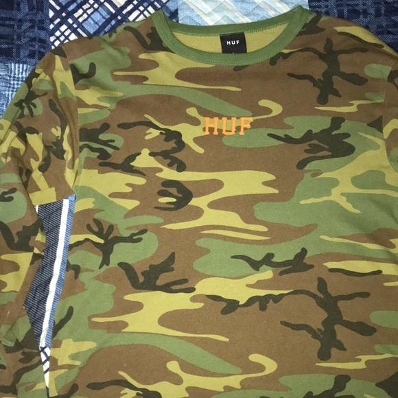 13acc8fa86 HUF Shirts | Camo F Shirt | Poshmark